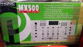 VENDE PLANTA Y AMPLIFICADOR PHONIC MX 500 DJ Mixer