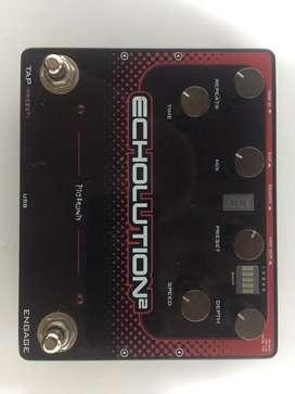 Pedal de efectos estilo delay PIGTRONIX Echolution 2