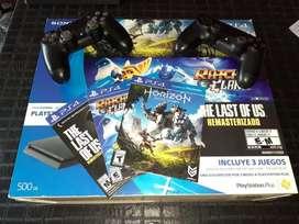 PS 4  3 juegos  2 joystick