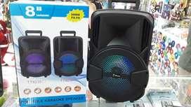 """PARLANTE SPEAKER BLUETOOTH, 8"""", 3000 W, FM/MIC/AUX/SD/USB/LED. ENVÍOS Y  GARANTÍA."""
