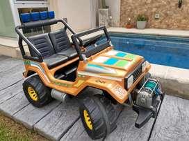 Auto a batería 12v Jeep Toyota para 2 niños
