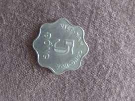 Antigua moneda china 5 dông (negociable)