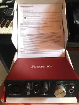 Interfaz de audio profesional focusrite scarlet solo