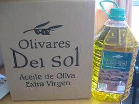ACEITE DE OLIVA EXTRA VIRGEN OLIVARES DEL SOL ENVASE X 5 LITROS