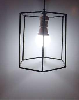 Lámpara calgante hierro hexágono