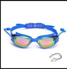 Gafas de natacion profesionales, proteccion UV, Polarizadas, tapaoidos y nariquera incluidas,