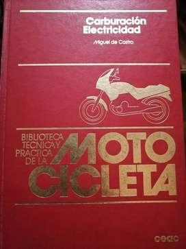 Biblioteca completa técnica y práctica de la motocicleta.