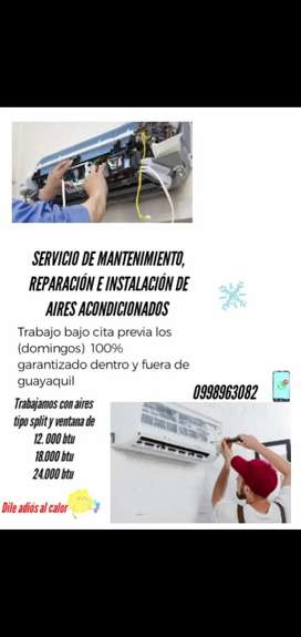 Mantenimiento e instalación de aires acondicionados a domicilio