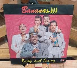 Long Play Lp Dísco Acetato Pasta Vinyl Bananas