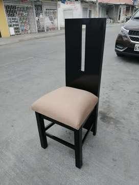 Gran oferta de juego de comedor de 6 sillas modelo forrado