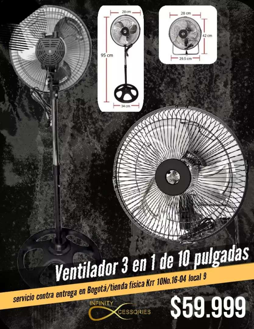 Ventilador 3 en 1 de 10 pulgadas y 3 velocidades