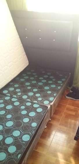 Vendo somier+colchón- silla mecedora