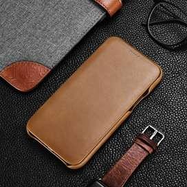 Case Carcasa Flip Cover Cuero Genuino Iphone 11 pro max