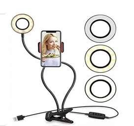 Aro de selfie con gancho para mesa