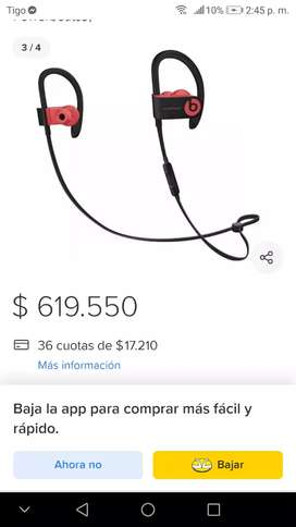 Manos libres pawer beats vendo o cambio