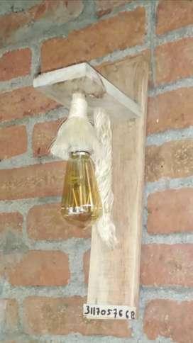 Lámparas y Reloj de pared