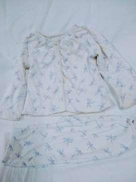 Pijama Conjunto 9m Baby Gap Talle2 Dibujos De Libelula