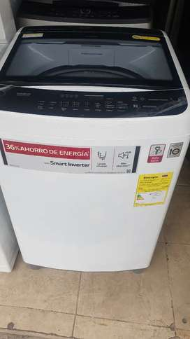 Vendo lavadora lg inverter de 29 libras