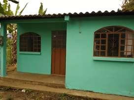 Se vende terreno con casa y chancheras cuenta con los servicios básicos: Agua y Luz Se encuentra ubicado en Pallatanga