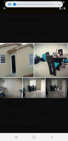 Alquiler de casa con 2 dormitorios en Villa Bonita