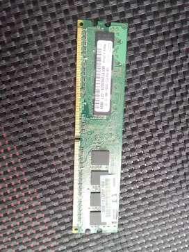 Memoria ram ddr2 para cpu 1gb cambio x ddr2 para portátil 2gb