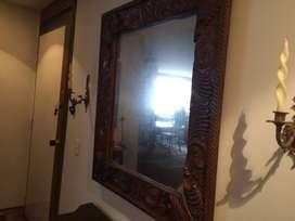 Espejo Colonial Tallado