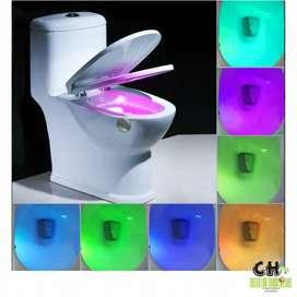 Luz Led Inodoro 8 Colores para Baño Sensor Detecta Movimiento