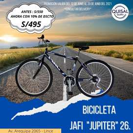 BICICLETA JAFI JUPITER ARO 26 MODELO IMPORTADO