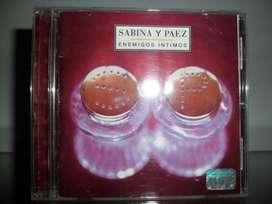 SABINA Y PAEZ enemigos íntimos cd original