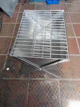 asadores en acero inoxidable