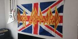 Def Leppard poster bandera