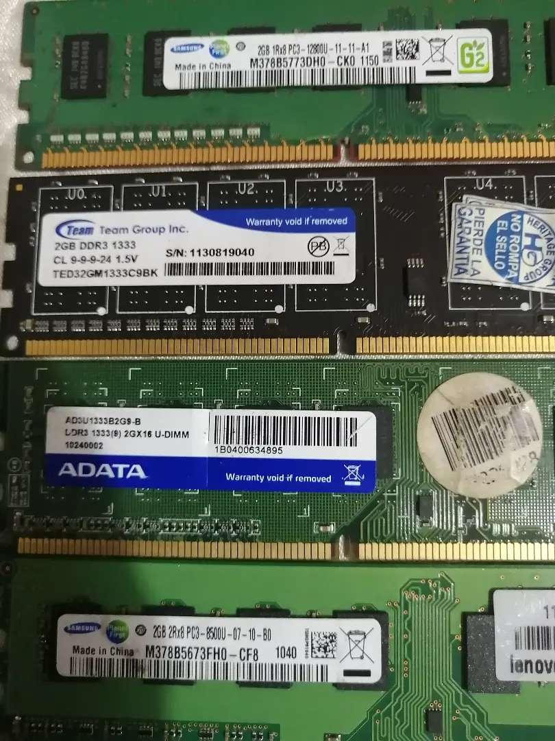 Memorias RAM DDR3 de 2GB 0