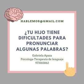 terapia de lenguaje en moquegua