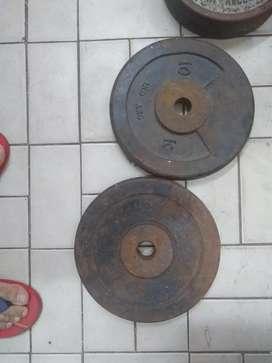 Vendo discos de hierro