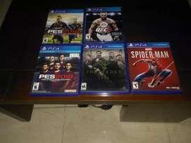 Se vende ufc3 ,Spiderman,the order pes 18 y 19