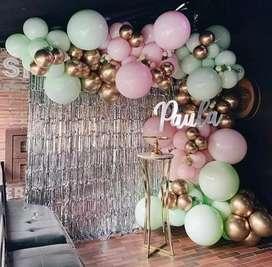 Decoraciones a domicilio arco orgánico para cumpleaños y fiestas de todo tipo bombas y mas temática