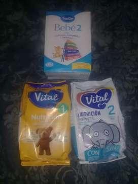 Vendo leches vital 1 .sancor bebe 2