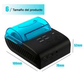 Impresora Térmica con Bluetooth portatil 58mm