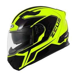Casco Zeus 813 Amarillo Neon para Motociclistas