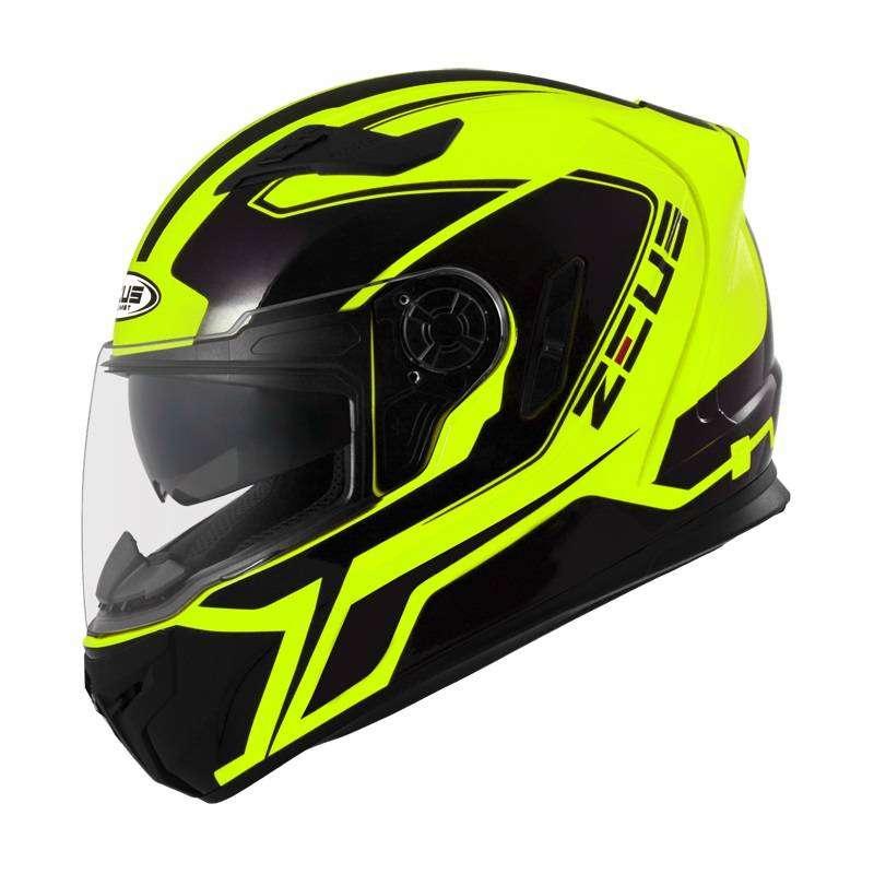 Casco Zeus 813 Amarillo Neon para Motociclistas 0