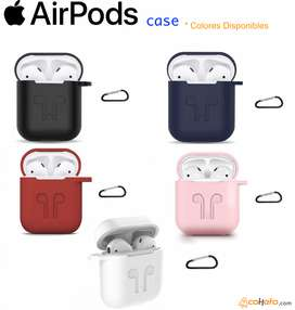 Case Protector Airpods Apple Silicon Resistente Mosqueton