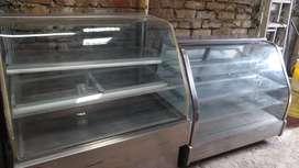 Vitrina panaderos vidrio curvo