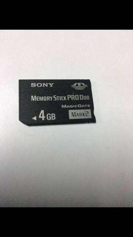 Memoria Sony stick pro dúo  4Gb