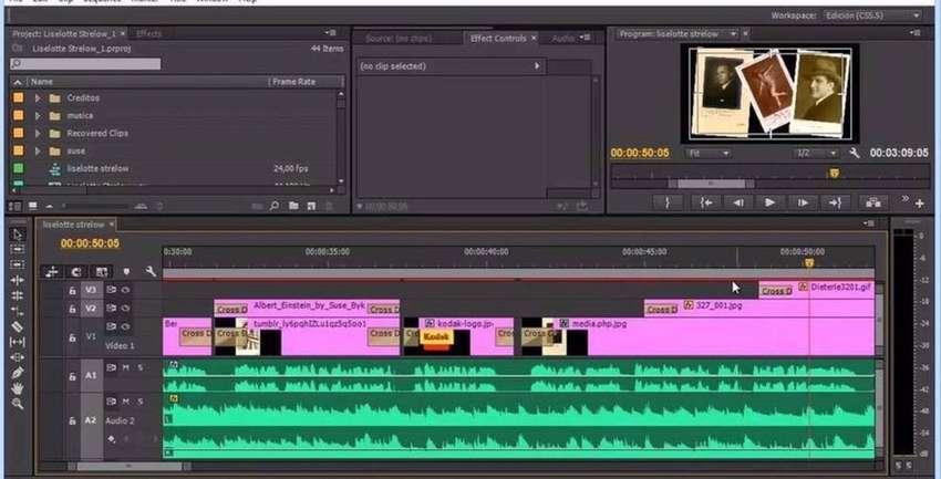Editor de fotos y videos (Tecnologo) escritor de guiones etc