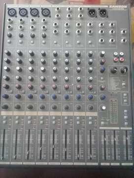 Espectacular Consola Audio Samson Mdr1248 Excelente Precio