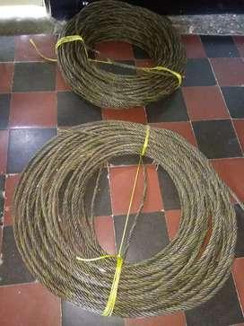 Cable de media de acero $12.000 el metro