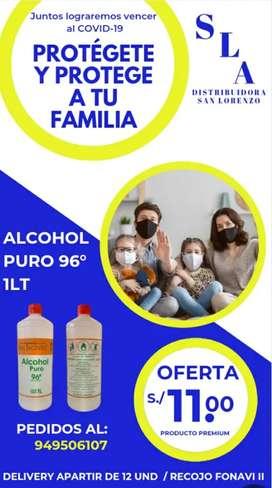 Alcohol 96 litro - 11 soles