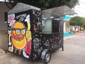 Food truck-Carro rodante de comidas rapidas en venta