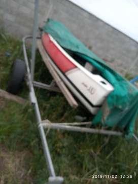 Canobote piraguon sin uso y trailer con cubiertas nuevas