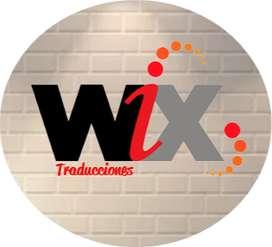 Wix Traducciones, Traducción en idioma, español, inglés, alemán, francés, portugués, ruso e italiano.